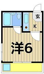 綾瀬三久ハイツ[2階]の間取り