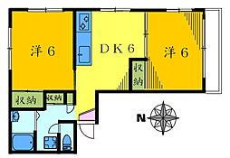 サルイアパートメント[301号室]の間取り