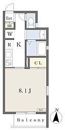 都営三田線 新板橋駅 徒歩8分の賃貸アパート 1階1Kの間取り