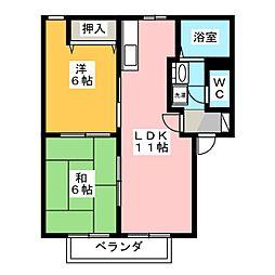 ラ・フォンテーヌ[2階]の間取り