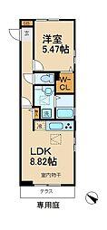 千葉県松戸市稔台1丁目の賃貸アパートの間取り