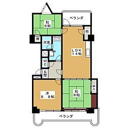 宮町マンションファラオ[4階]の間取り