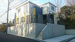 1号棟、現地写真です。現地見学会のお客様は事前にご連絡お願い申し上げます。
