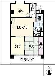 シャトウスサキII[3階]の間取り