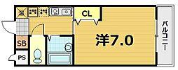 スターボード28[406号室]の間取り