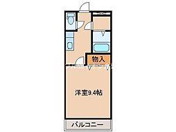 岡山県倉敷市有城の賃貸アパートの間取り