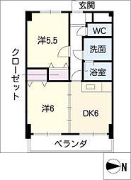 第3エステート丸万[3階]の間取り