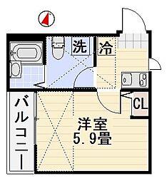 オーシャンドリーム桜山[302号室]の間取り