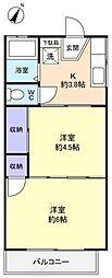 メゾン山桜[2階]の間取り