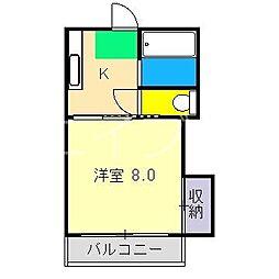 しおやハイツ[2階]の間取り