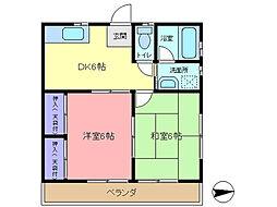 白石アパート[202号室]の間取り