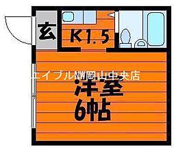 岡山県岡山市北区駅元町の賃貸マンションの間取り