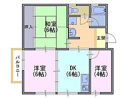 第一藤田マンション[2階]の間取り