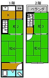 [テラスハウス] 大阪府堺市堺区霞ヶ丘町1丁 の賃貸【/】の間取り