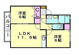 ラサーラグランデ[2階]の間取り