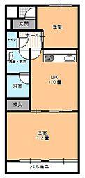 福岡県北九州市小倉南区葛原2丁目の賃貸マンションの間取り