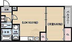 ロイヤルシティーAYA[3階]の間取り