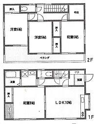 [一戸建] 神奈川県横浜市戸塚区上柏尾町 の賃貸【/】の間取り
