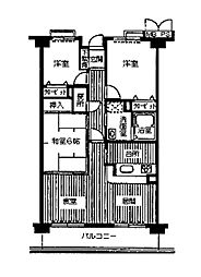 フォレステージュ夙川[0105号室]の間取り