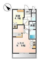 ラディアーレ[2階]の間取り