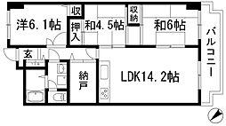 ローズハイツ宝塚[3階]の間取り