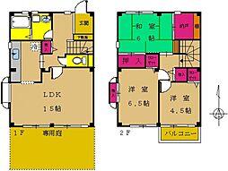 [タウンハウス] 東京都町田市高ヶ坂7丁目 の賃貸【/】の間取り