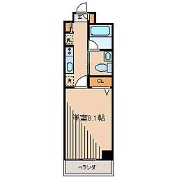 ヴェリナス5[3階]の間取り