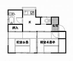 [一戸建] 神奈川県横須賀市野比2丁目 の賃貸【神奈川県 / 横須賀市】の間取り