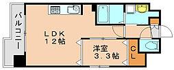 ベルファース博多東[11階]の間取り