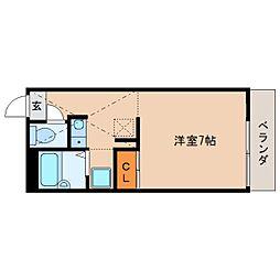 奈良県大和郡山市小泉町東の賃貸アパートの間取り