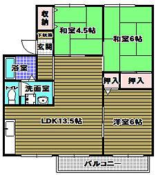 千代田パストラル[2階]の間取り