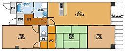 フォーラム城ケ丘弐番館[3階]の間取り