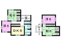 [一戸建] 愛媛県松山市北斎院町 の賃貸【/】の間取り
