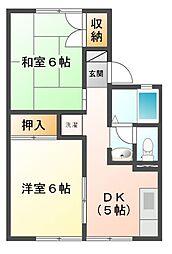 神奈川県川崎市宮前区土橋4丁目の賃貸アパートの間取り