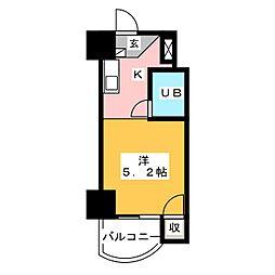 露橋ロイヤルハイツ[3階]の間取り