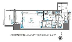 JR山手線 代々木駅 徒歩6分の賃貸マンション 13階1Kの間取り