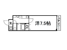 紫野ユー・ピー・ディービル[3階]の間取り