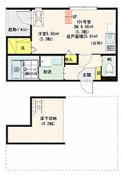 仮)ハーモニーテラス・東大阪瓜生堂2丁目・SKHコーポ[101号室]の間取り