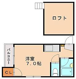 プチトワゾ大橋[2階]の間取り