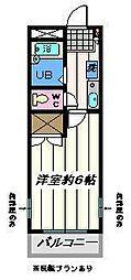 埼玉県三郷市早稲田2丁目の賃貸アパートの間取り