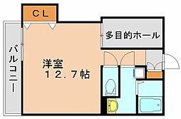 福岡県福岡市博多区上牟田1の賃貸マンションの間取り