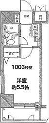 パレ・ドール伊勢佐木町南II[10階]の間取り