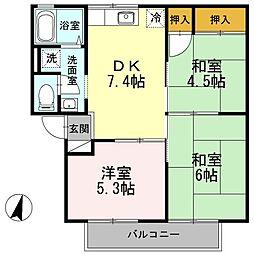 ブランミュール[2階]の間取り
