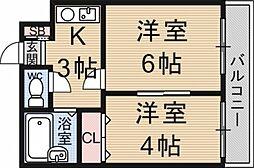 グレースコーポ大塚[213号室号室]の間取り