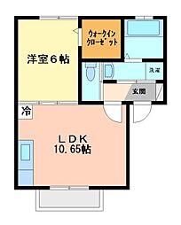 Quattro[1階]の間取り