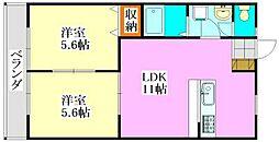 グローバルワタナベ[2階]の間取り