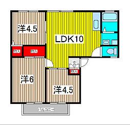 モーニングハウス[2階]の間取り