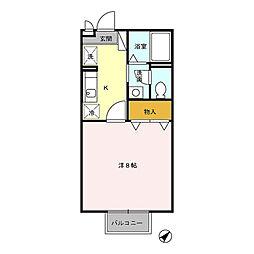 セジュールSE[2階]の間取り