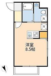 JR南武線 登戸駅 徒歩5分の賃貸アパート 3階ワンルームの間取り