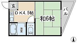 アベニール木川[4階]の間取り